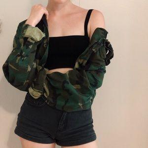 Cropped Vintage Army Jacket